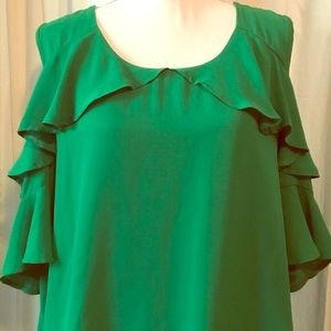 Kelly Green Blouse